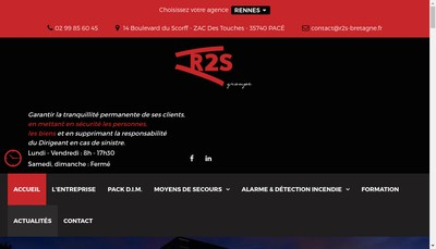 Site internet de Rennes Securite Service