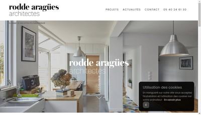 Site internet de Rodde Aragues Architectes