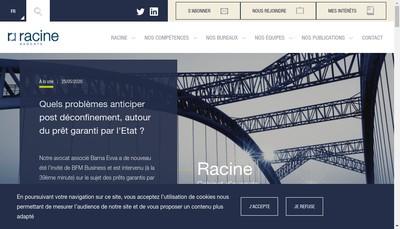 Site internet de Racine