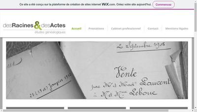 Site internet de Des Racines et des Actes