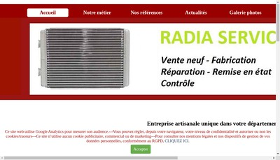 Site internet de Radia Service