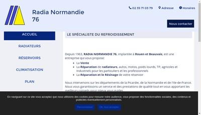 Site internet de Radia Normandie 76 SARL Raffin Jean Luc