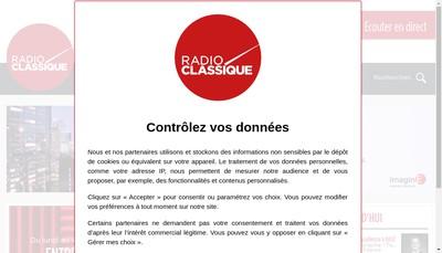 Site internet de Radio Classique-Radio Classic
