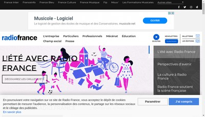 Site internet de Societe Nationale de Radiodiffusion Radio France