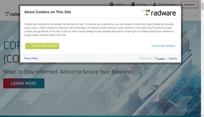 Site internet de Radware France