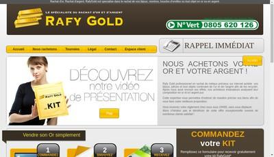 Site internet de Rafy Gold