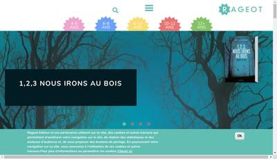 Site internet de Rageot Editeur