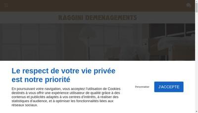 Site internet de Demenagements Raggini - Garde-Meubles Raggini