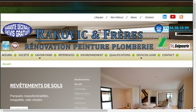 Site internet de Rakovic et Freres