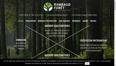 Site internet de Rambaud Foret