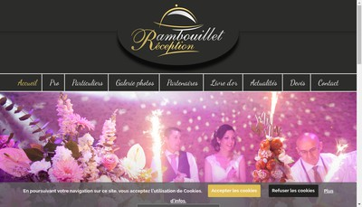 Site internet de Rambouillet Reception