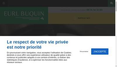 Site internet de EURL Buquin