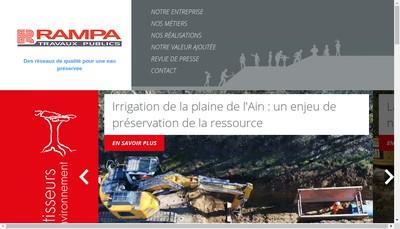 Site internet de Rampa Travaux Publics