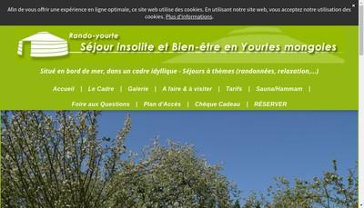 Site internet de Rando Yourte