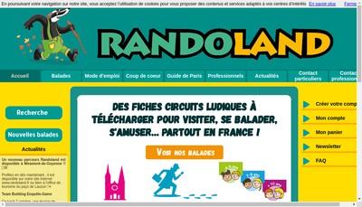 Site internet de Randoland