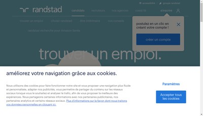 Site internet de Groupe Randstad France