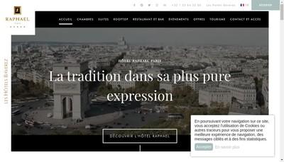 Site internet de Le Raphael