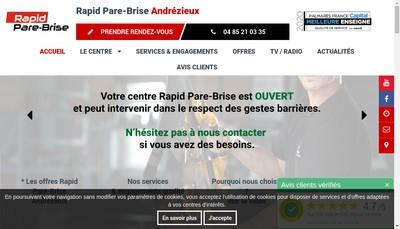 Site internet de Rapide Pare-Brise