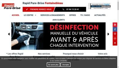Site internet de Rapid Pare-Brise