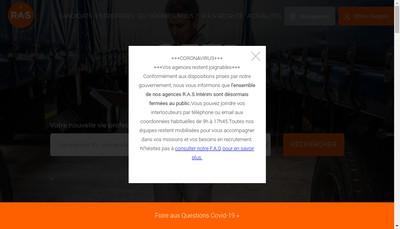 Site internet de Ras 540