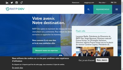 Site internet de Ratp Dev France Invest