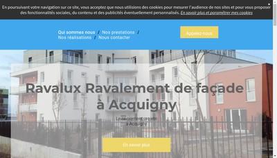Site internet de Ravalux