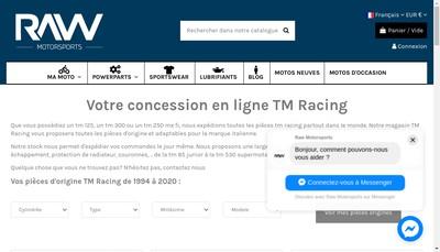 Site internet de Raw Motorsports
