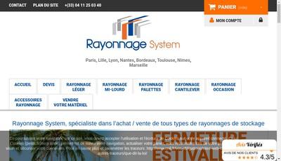 Site internet de Rayonnage System
