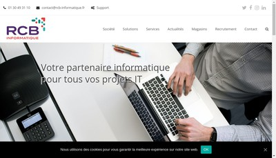 Site internet de Rcb Informatique