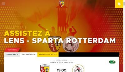 Site internet de Racing Club de Lens