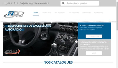 Site internet de RDI Distribution Automobiles