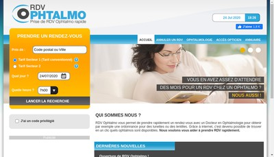 Site internet de Net Ophtalmo