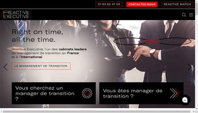 Site internet de Reactive Executive