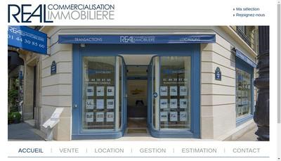 Site internet de Real Commercialisation