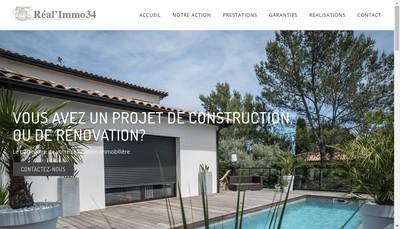 Site internet de Real'Immo 34
