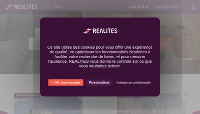 Site internet de Realites Immobilier