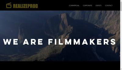 Site internet de Realize Production
