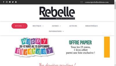 Site internet de Rebelle Editions