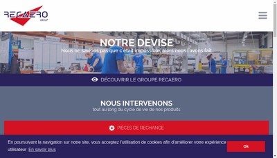 Site internet de Recaero Composites