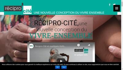 Site internet de Recipro-Cite