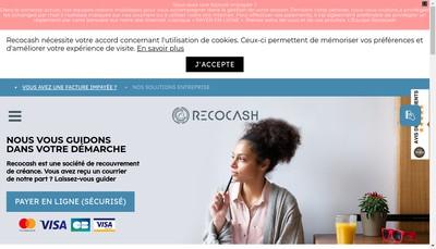Site internet de Recocash