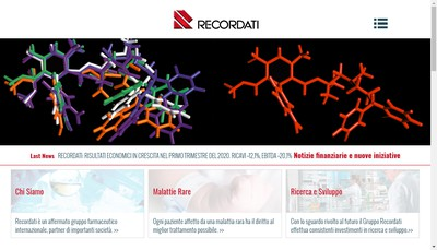 Site internet de Bouchara-Recordati