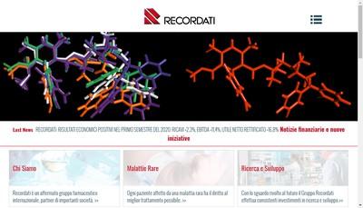 Site internet de Bouchara - Recordati