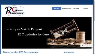 Site internet de R2C Recouvrement Contentieux & Conseil