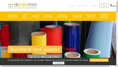 Site internet de Recreation