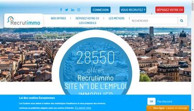 Site internet de Recrutimmo