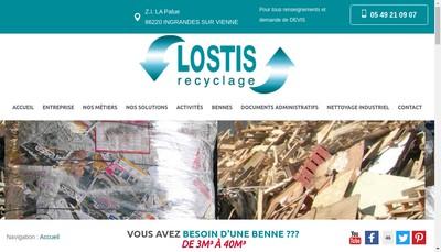 Site internet de Lostis Recyclage