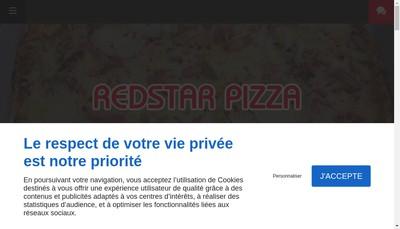 Site internet de Redstar Pizza