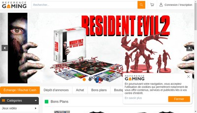 Site internet de Reference Gaming