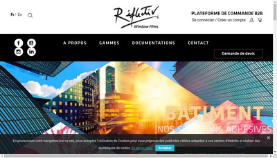 Site internet de Reflectiv